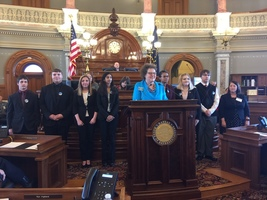 PHS Debate/Forensics program recognized in the Kansas House
