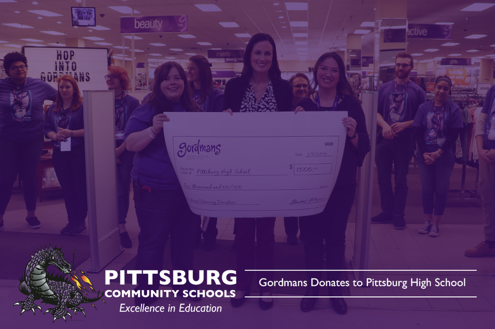 Gordmans Donates to Pittsburg High School