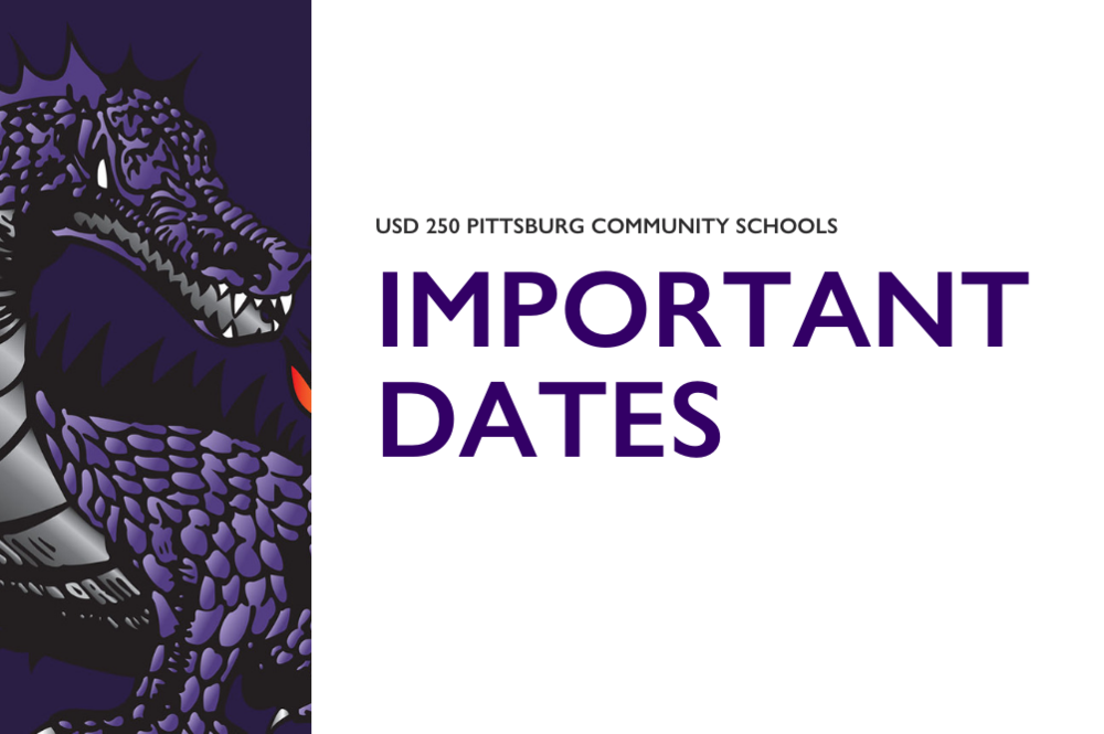 USD 250 Important Dates