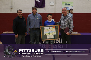 Caden Mitchell Wins Poster Contest