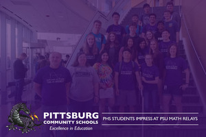 PHS Students Impress at PSU Math Relays