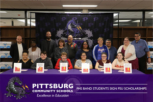 PHS Band Students Sign PSU Scholarships