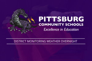 District monitoring overnight weather