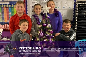 George Nettels STEM Club in the Holiday Spirit