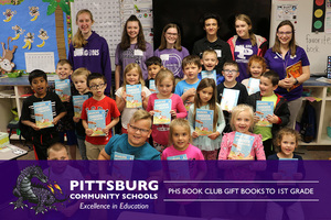 PHS Book Club Gift Books to 1st Grade
