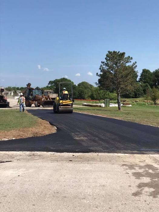 City crews work on PHS driveway