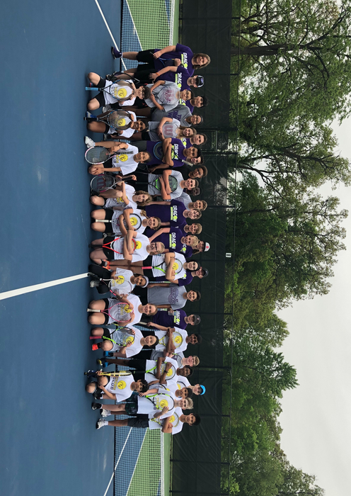 PCMS boy's tennis with the Thomas Jefferson team.