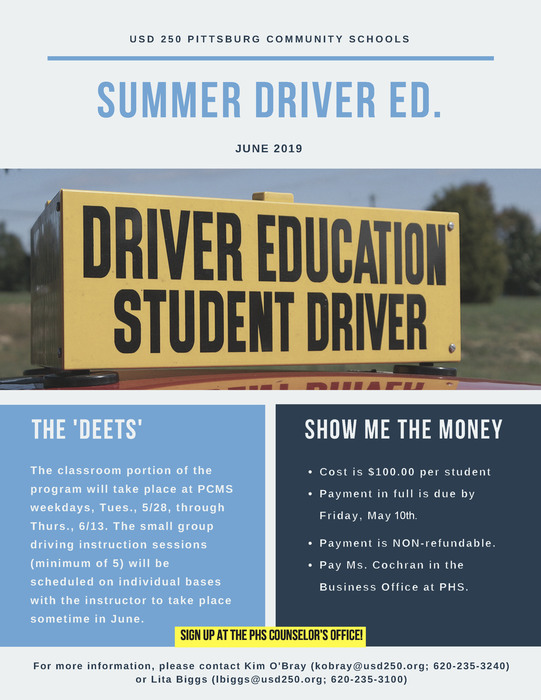2019 Summer Driver Ed.