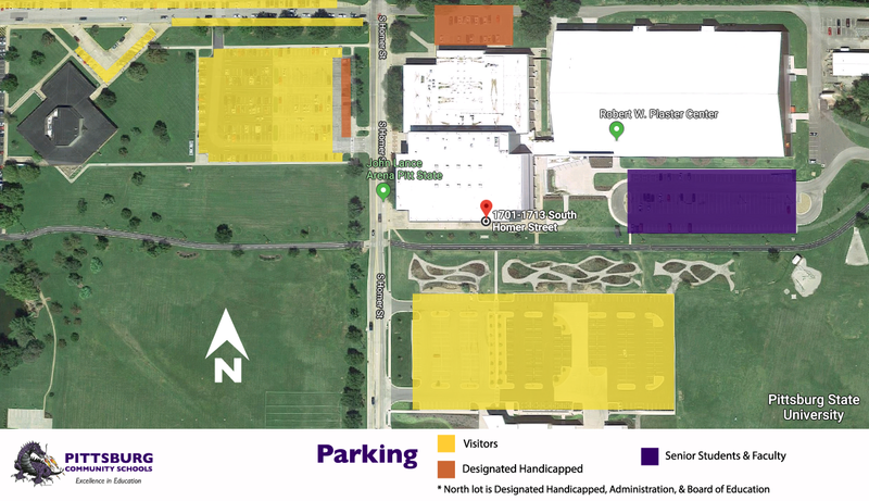 Graduation Parking Map